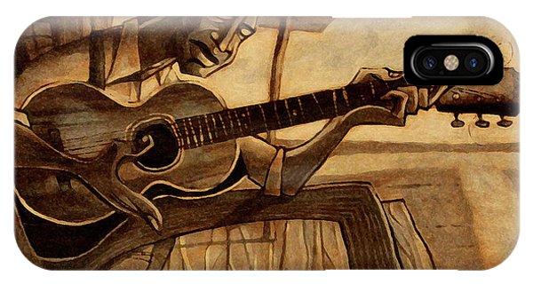 Guitar Legends iPhone Case - Crossroads by Sean Hagan