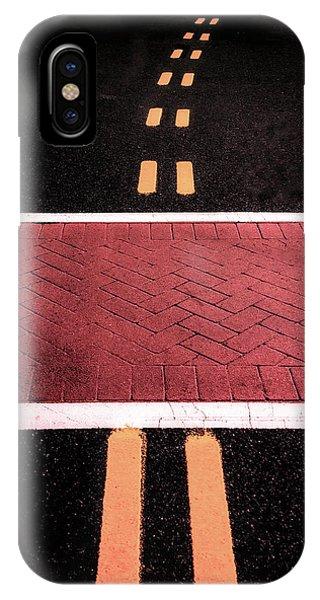 Crosswalk Conversion Of Traffic Lines IPhone Case