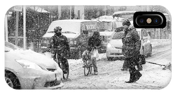 Crosswalk In Snow IPhone Case