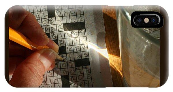 Crossword IPhone Case