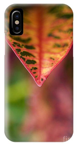 Croton Leaf Macro II IPhone Case