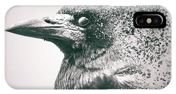 Digital Effect iPhone Case - Crow Dispersion by Martin Newman