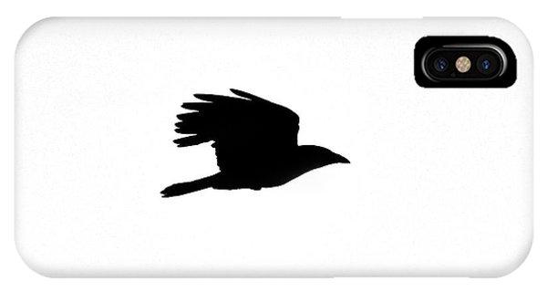 Crow In Flight Silhouette IPhone Case