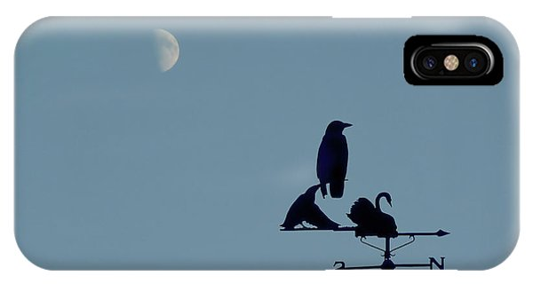 IPhone Case featuring the photograph Crow On Weathervane by Valerie Anne Kelly