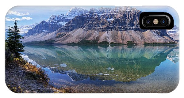 Banff iPhone Case - Crowfoot Reflection by Chad Dutson