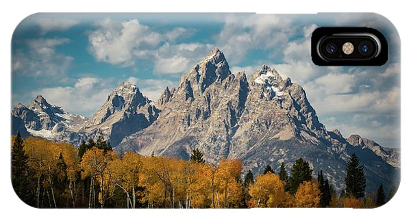 Teton iPhone Case - Crown For Tetons by Edgars Erglis