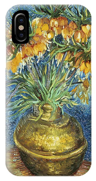 Botany iPhone Case - Crown Imperial Fritillaries In A Copper Vase by Vincent Van Gogh