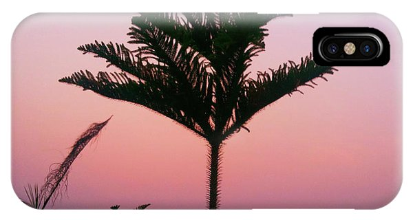 Crown In Pink Sky IPhone Case