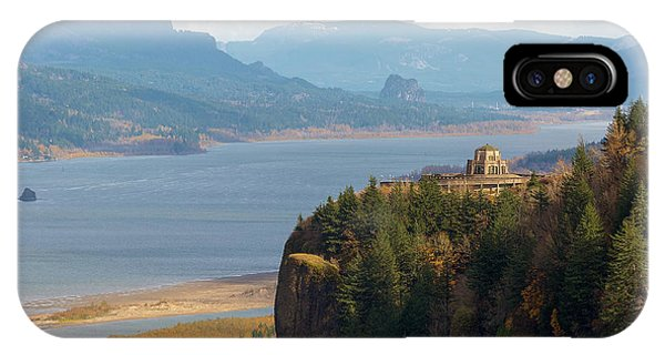 Crown Point On Columbia River Gorge IPhone Case