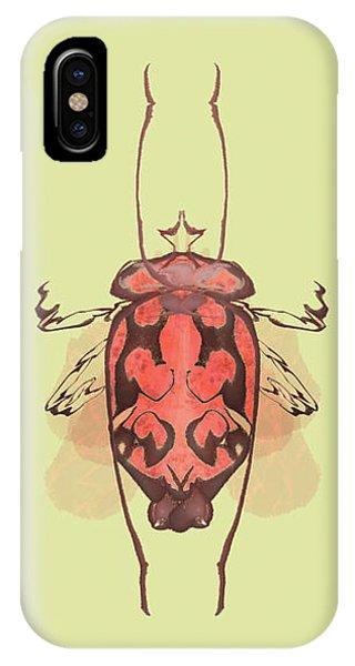 Crowned Horn Bug Specimen IPhone Case