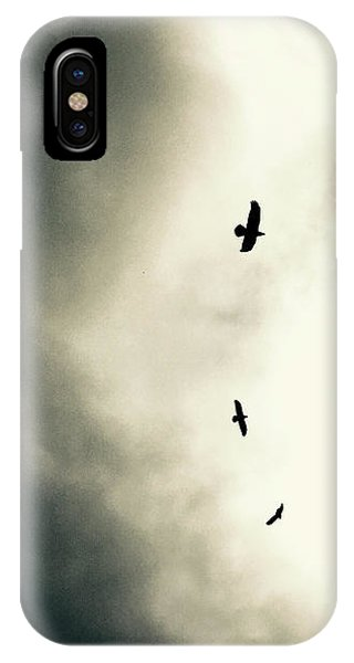 Crows On Christmas Eve 1 IPhone Case