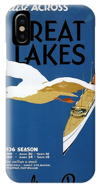 Advertising iPhone Case - Cruise Across The Great Lakes - Canadian Pacific - Retro Travel Poster - Vintage Poster by Studio Grafiikka