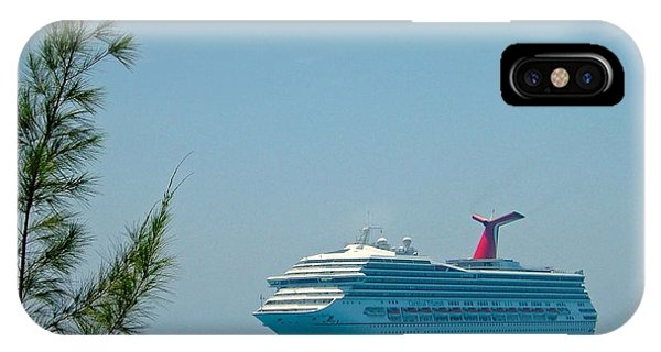 Cruise Ship At Half Moon Cay IPhone Case