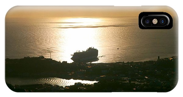 Cruise Ship At Sunset IPhone Case