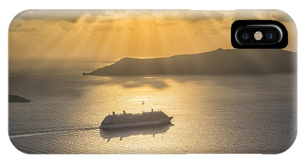 Cruise Ship In Greece IPhone Case