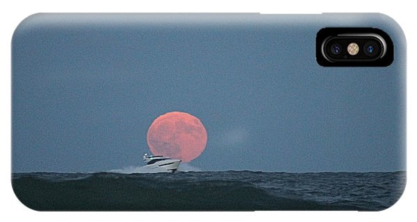 Cruising On A Wave During Harvest Moon IPhone Case