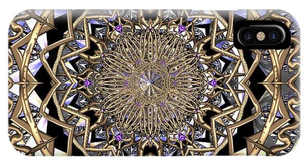 IPhone Case featuring the digital art Crystal Ahau  by Robert Thalmeier