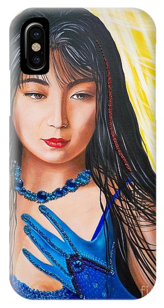 Crystal Blue China Girl            From   The Attitude Girls  IPhone Case
