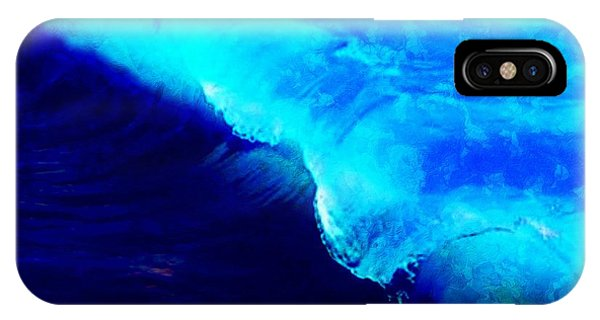 Crystal Blue Wave Painting IPhone Case