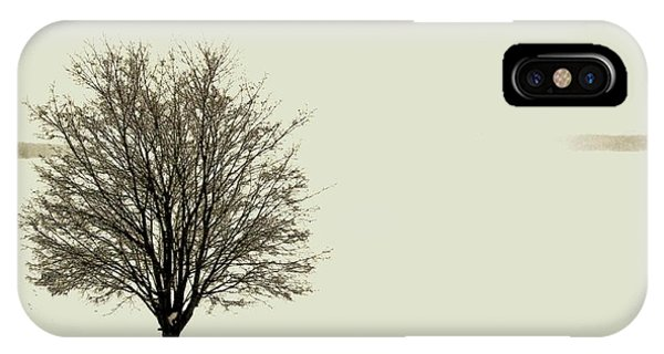 Crystal Lake In Winter IPhone Case