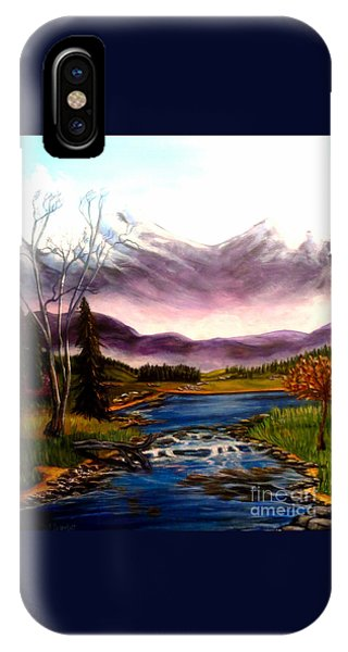 Crystal Lake With Snow Capped Mountains IPhone Case