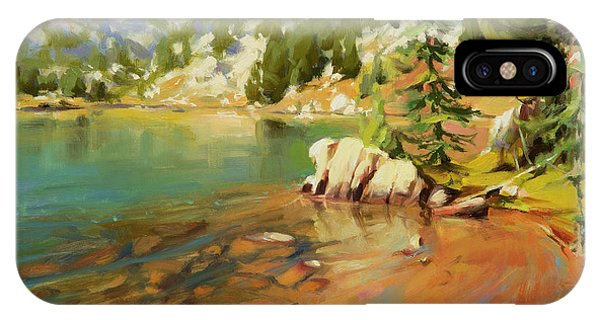 Rocky Mountain iPhone Case - Crystalline Waters by Steve Henderson