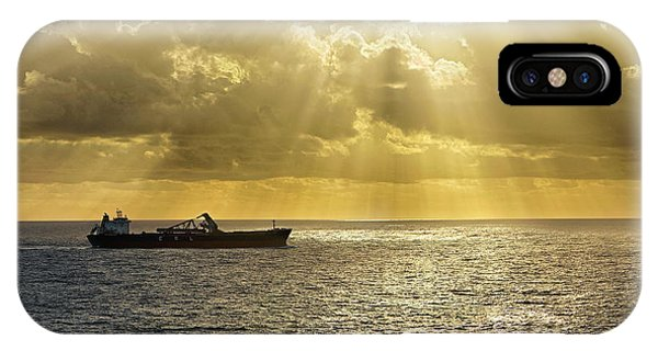 IPhone Case featuring the photograph Csl Spirit At Sunrise - Caribbean Ocean - Seascape - Ship by Jason Politte