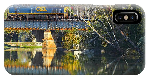IPhone Case featuring the photograph Csx Over Canal Walk  by Joseph C Hinson Photography
