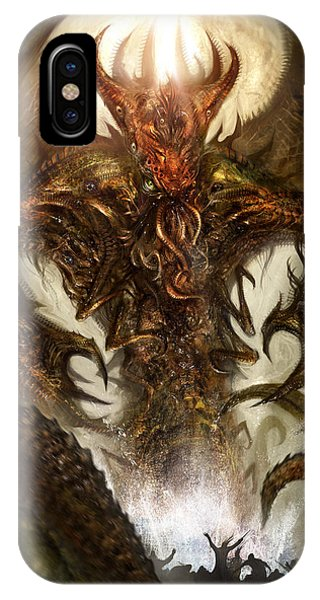 Fantasy Art iPhone Case - Cthulhu Rising by Alex Ruiz