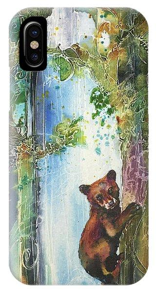 Cub Bear Climbing IPhone Case