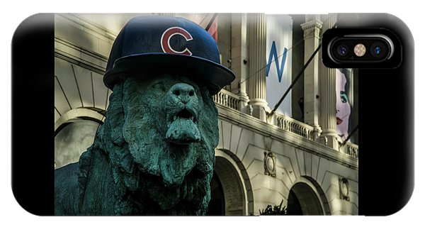 Cub Hat On Art Institute Lion Telephoto IPhone Case