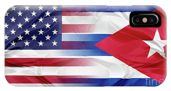 Cuba And Usa Flags IPhone Case