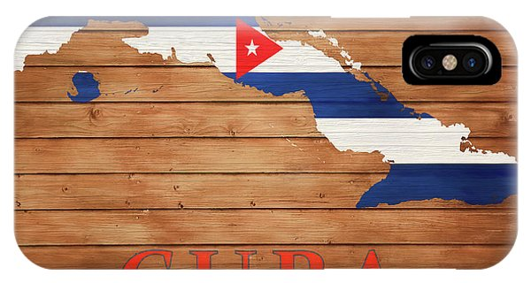 Traveler iPhone Case - Cuba Rustic Map On Wood by Dan Sproul