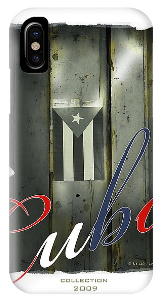 Cuban Flag On Door IPhone Case
