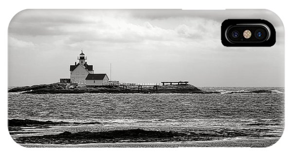 Navigation iPhone Case - Cuckolds Light Lighthouse  by Olivier Le Queinec