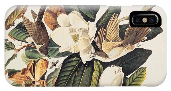 1851 iPhone X Case - Cuckoo On Magnolia Grandiflora by John James Audubon