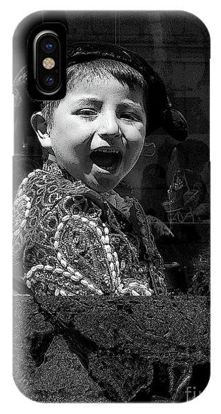 Laughing Jesus iPhone Case - Cuenca Kids 954 by Al Bourassa