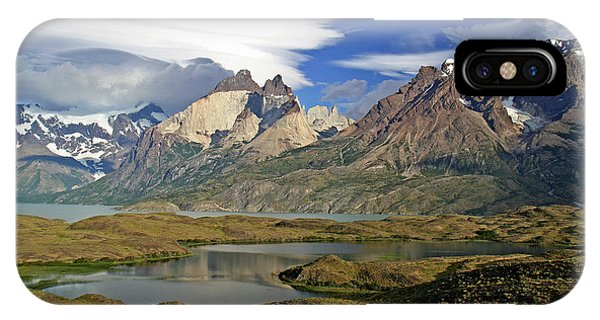 Cuernos Del Pain And Almirante Nieto In Patagonia IPhone Case