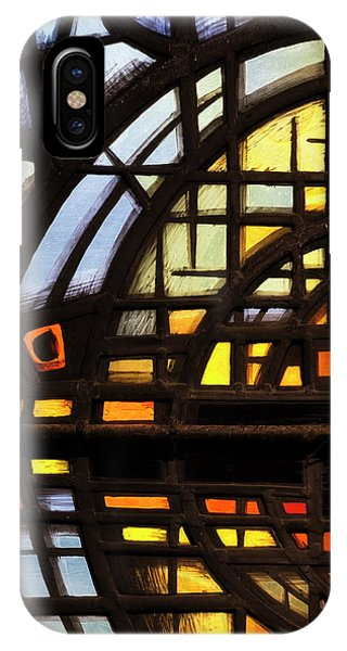 IPhone Case featuring the photograph Culross Abbey - Stained Glass by Jeremy Lavender Photography