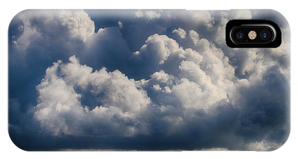 IPhone Case featuring the photograph Cumulus Over The River by William Selander