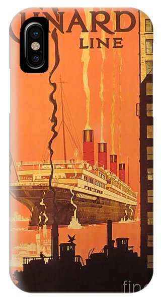 Cunard Ocean Liner Poster IPhone Case