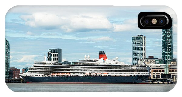 Cunard's Queen Elizabeth At Liverpool IPhone Case