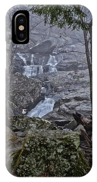 IPhone Case featuring the photograph Cunningham Falls In The Rain And Fog by Mark Dodd