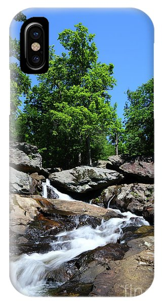 Catoctin Mountain Park iPhone Case - Cunningham Falls Long Exposure Image Maryland by James Brunker