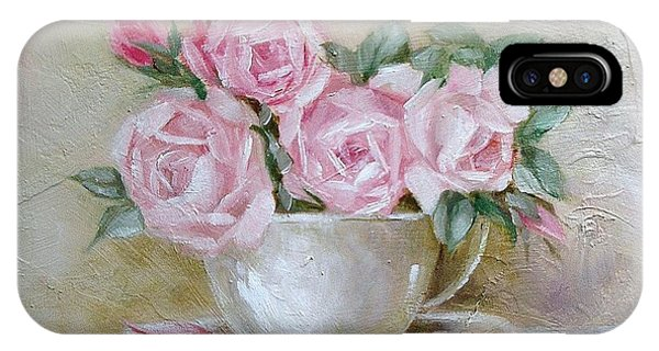 Cup And Saucer Roses IPhone Case