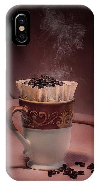 Tan iPhone Case - Cup Of Hot Coffee by Tom Mc Nemar