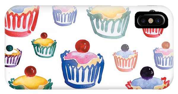 Cake iPhone Case - Cupcake Crazy by Sarah Hough
