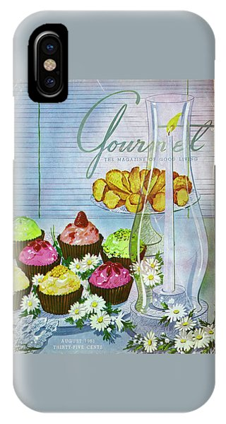 Cupcakes And Gaufrettes Beside A Candle IPhone Case