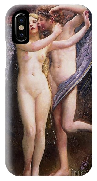 Cupid iPhone Case - Cupid And Psyche by Annie Louisa Swynnerton