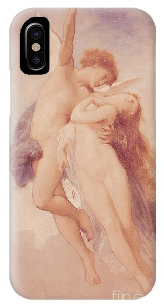 Cupid iPhone Case - Cupid And Psyche by William Adolphe Bouguereau